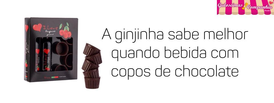 Copos de chocolate para ginja