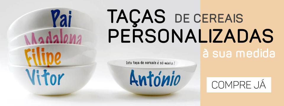 Taças de cereais personalizadas